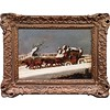 This painting is from 19th century England, but it could also be tonight's Santa Fe weather forecast. Stay safe and warm, everyone! #oracle #winter #snow #seasons #blizzard #art #artist #painter #painting #instaart #instaarthub #artgram #artgallery #galle