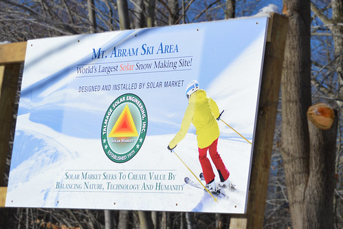 Mt. Abram is the world's largest solar snow making site.