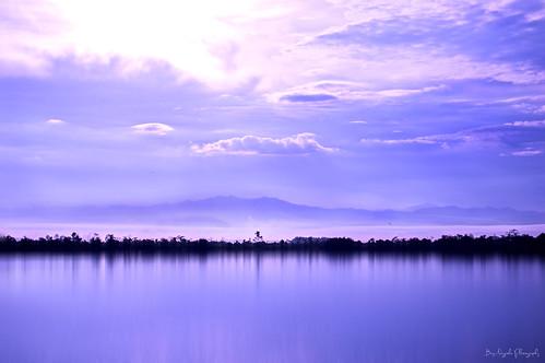 lake nature sunrise bengkulu