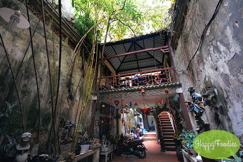 Finding this hidden cafe behind old buildings in Hanoi