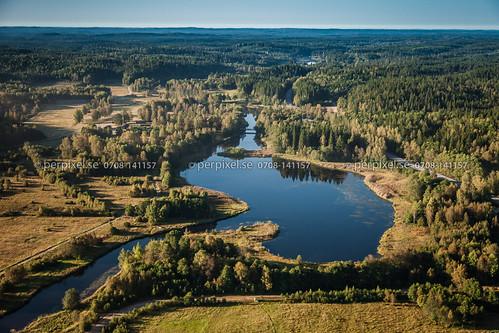 natur sverige swe västragötaland borås viared flygfoto viskan