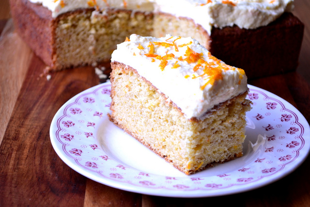 Recipe for Orange Traybake
