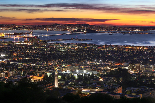sanfrancisco california city sunset lights berkeley twilight dusk valentine campanile bayarea valentines ucberkeley sathertower eos6d canon6d parksjd sunsetoftheday