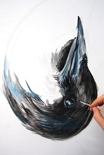 Large Crow in progress