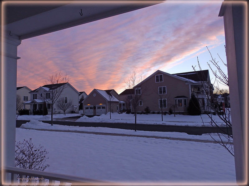 ~ winter sunset...