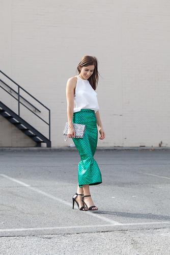 Wearing WA designer skirt