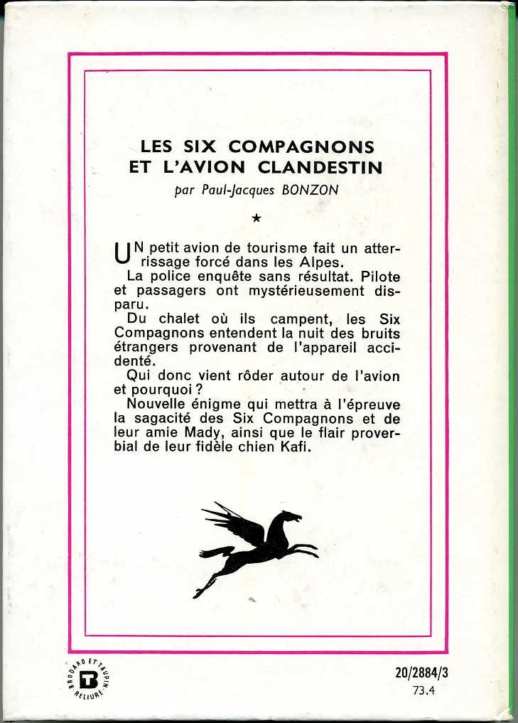 Les six compagnons et l'avion clandestin, by Paul Jacques BONZON