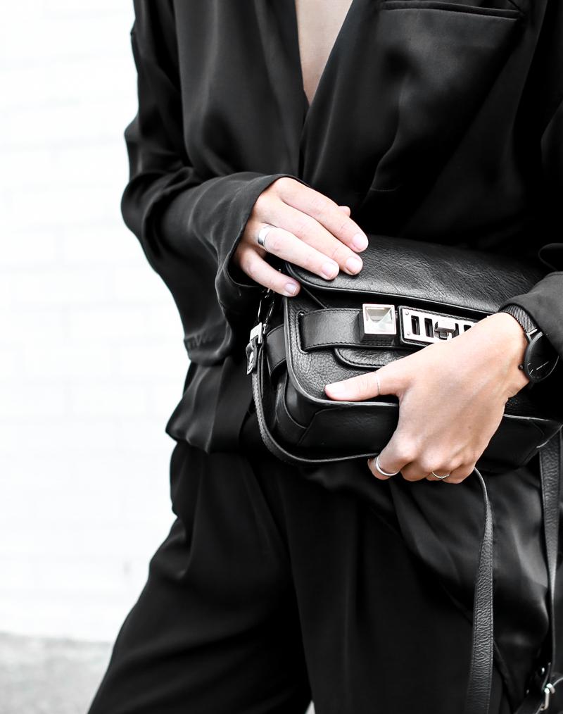 MODERN LEGACY fashion blog all black street style french effect Haider Ackermann silk shirt PS11  (1 of 1)