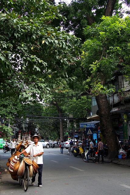 rattan goods seller, Hanoi, Vietnam