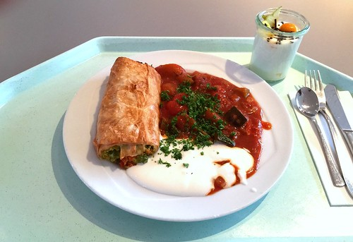 Vegetable strudel with ratatouille / Gemüsestrudel mit Ratatouille