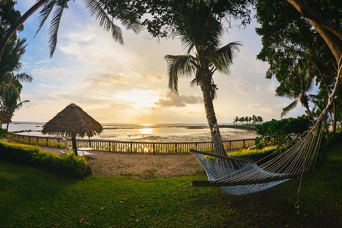 beach fiji sunrise landscape paradise southpacific