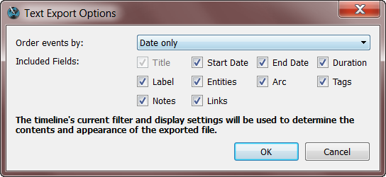 Aeon Export Dialog