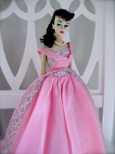 Barbie Ponytail 3 1960 wearing Sophisticated Lady dress 1963