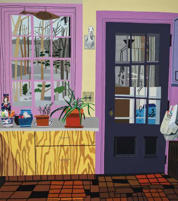 Jonas Wood, Kitchen with Aloe Plant, 2013
