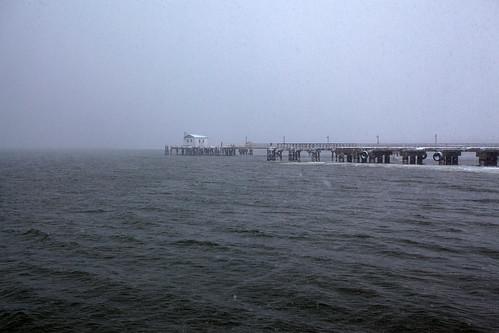 winter snow water fog canon river 50mm maryland baltimore charmcity patapscoriver fortarmistead 5dmarkii