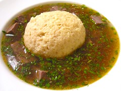 MATZOBALL & CORNED BEEF SOUP