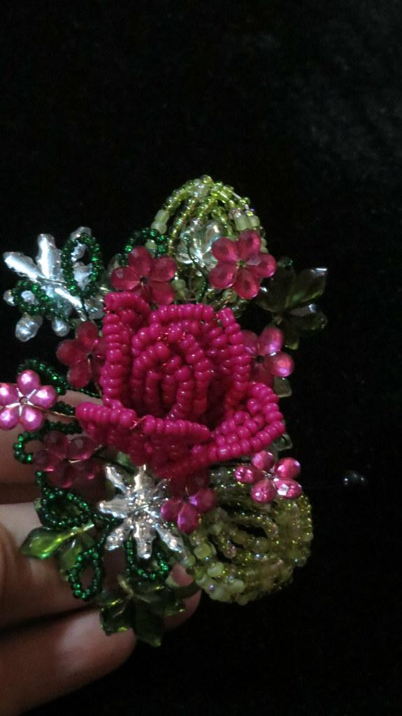 pink boutonnière