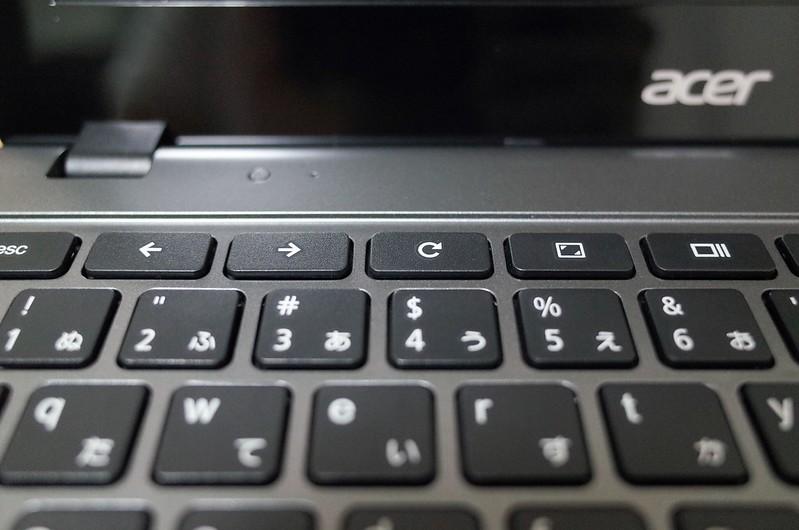 Chromebook Acer C720キーボード