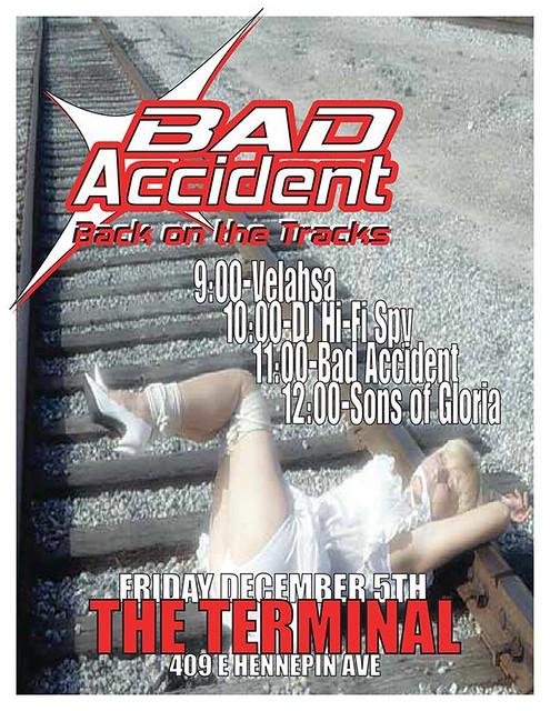 12/05/14 Sons of Gloria/ Bad Accident/ DJ Hi-Fi Spy/ Velahsa @ The Terminal, Minneapolis, MN
