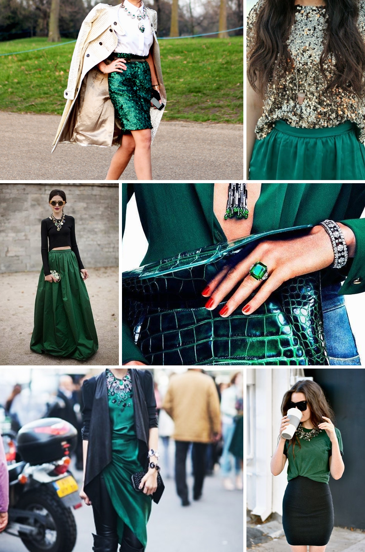 colours emerald and gold