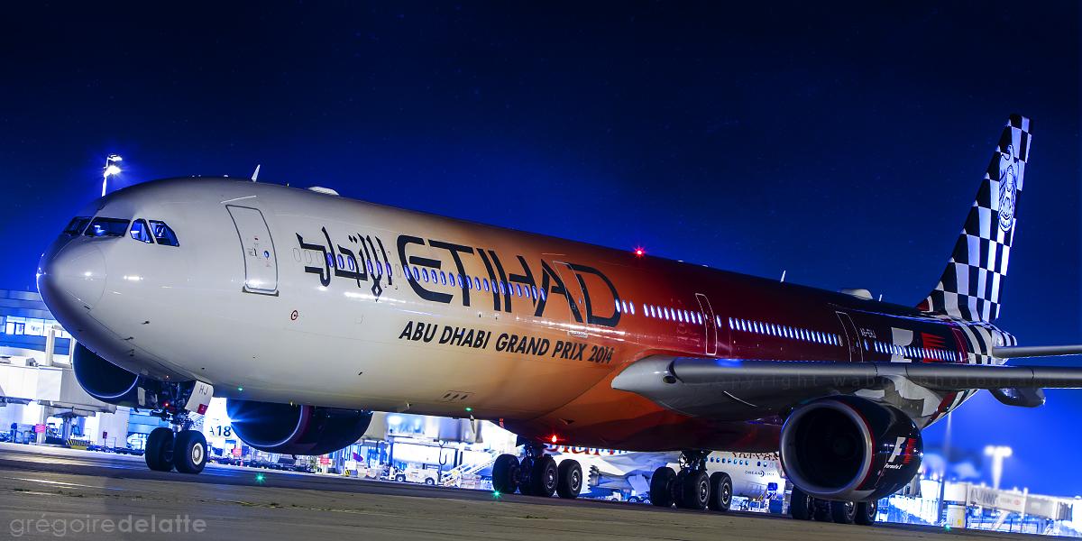 Etihad Airbus A340-600 Formula 1 GP A6-EHJ