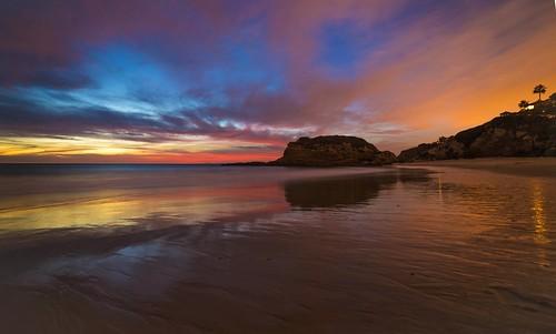california longexposure sunset color reflection beach clouds sand nikon heaven lowtide southerncalifornia beachsunset lagunabeach stacks wetsand wideanglelens rainbowcolors rokinon nikond800 rokinon14mm beachsunsetsundaydecember7th