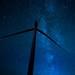 Wind Turbine in the night sky