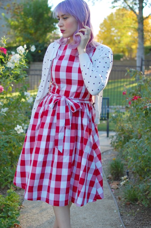 Lindy Bop Audrey dress in Red Gingham 031