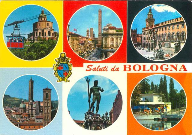 Carte postale graphique et très coloré