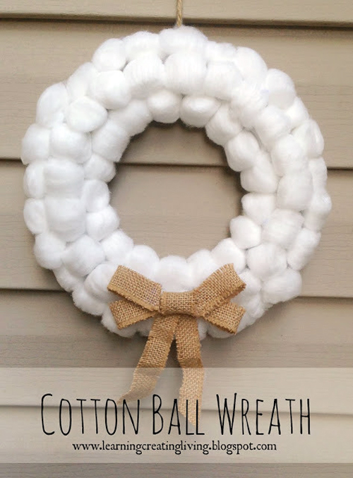 ghirlanda-di-batuffoli-di-cotone-Natale---Cotton-Ball-Wreath