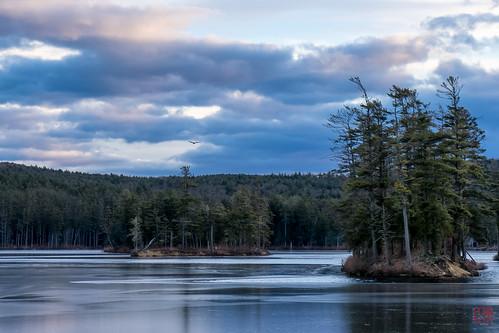 sunset unitedstates eagle massachusetts hike tully royalston tullylake winter2014