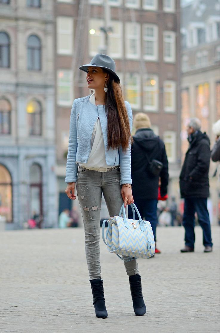 DSC_0495 Pomikaki bag, Baby Blue Moto jacket, Alexander wang x H&M, Tamara Chloé, Myca Couture