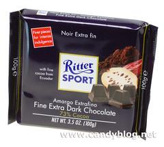 Ritter Sport Fine Extra Dark Chocolate 73% Cocoa