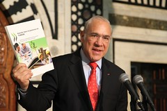 Angel Gurría, Secretary-General of the OECD at the presentation of the report, Tunisia -  A Reform Agenda to Support Competitiveness and Inclusive Growth