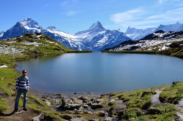 Diario de un Mentiroso junto al lago Bachalpsee en Suiza
