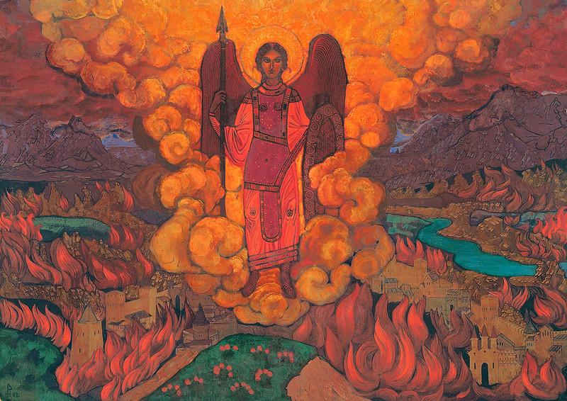 Nicholas Roerich - The Last Angel, 1912