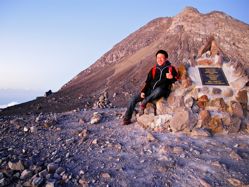 At the (near) summit of Mount Merapi, Jogjakarta