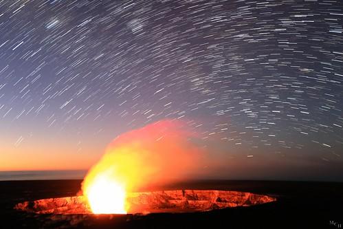 usa canon landscape dawn volcano hawaii astrophotography volcanonationalpark stacked thebigisland startrails 2015 5dmkiii photosbymch