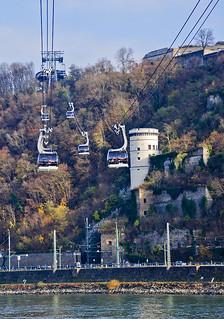 Per sobre el Rín amb teleferic / Cable car above the Rhine