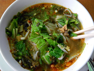 Shan Soup at the Inle Palace Café in the Town of Nyaung Shwe, Myanmar