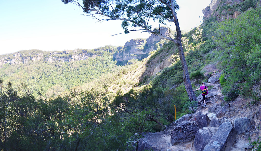 The Landslide - Ruined Castle Hike - Blue Mountains