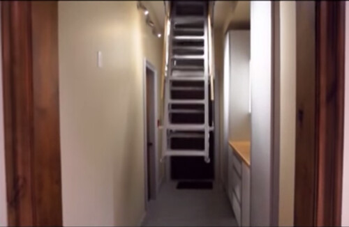 Marwin's electric attic stair solves the problem of pull down attic stair