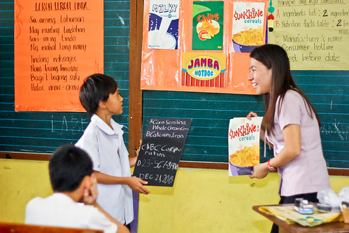 Philippines – helping children understand nutritional labels on pack