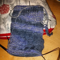 The first cuff ofcthe first Sock Madness 9 sock.