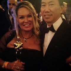 """Yes, it's the real """"Oscar"""" the entire team including strategic consultants, photography crew, and those involved at the core behind the scenes received an Oscar for the films... and """"Oscar"""" is heavy, more beautiful than any photo and a true blessing :revo"""
