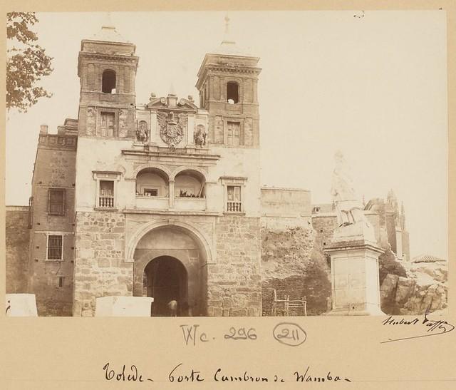Puerta del Cambrón en 1889. Fotografía de Marie Hubert Vaffier © Bibliothèque Nationale de France