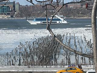 Yacht passing
