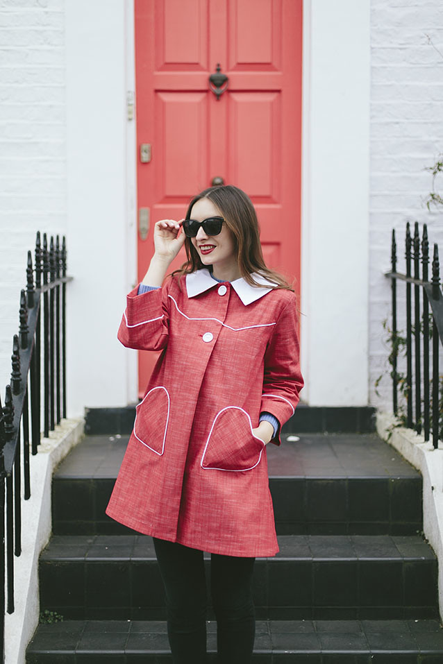 Tara Starlet Red Heart Coat What Olivia Did