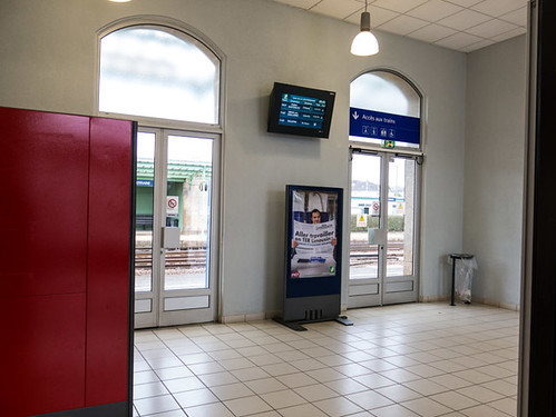 Interior railway station La Souterraine