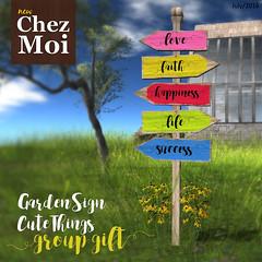 Garden Sign Cute Thing CHEZ MOI